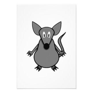 Rato dos desenhos animados convites personalizados
