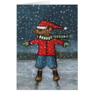Rato em skates: Neve: Estrela super do feliz Cartão Comemorativo
