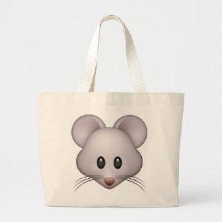 Rato - Emoji Bolsa Tote Grande