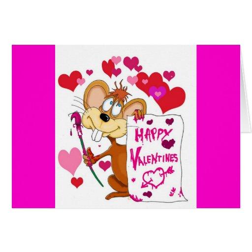 Rato feliz do dia dos namorados cartões