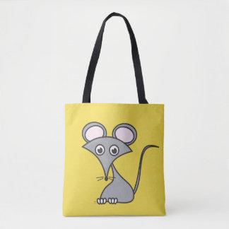 Rato na sacola do queijo bolsa tote