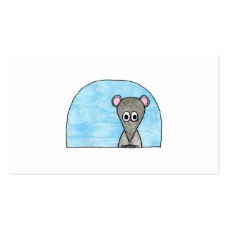 Rato que conduz um carro cartoes de visitas