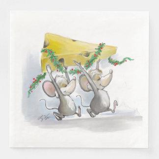 Ratos alegres Mic & guardanapo de papel do feriado