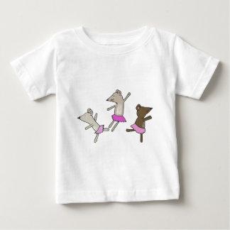 ratos da dança camiseta para bebê