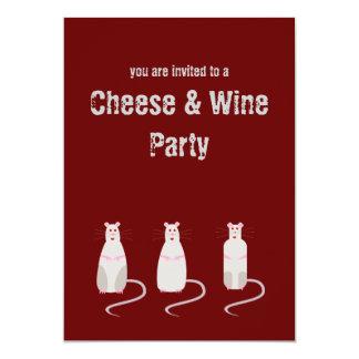 Ratos Vermelho-Eyed queijo & convite de festas do