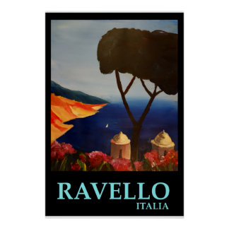 Ravello Italia - poster retro do estilo