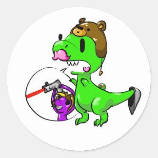 Rawr vai o dinossauro adesivo