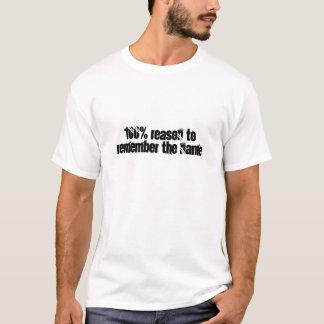 razão de 100% recordar o nome camiseta