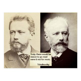 Razão do cartão de Tchaikovsky ir música louca