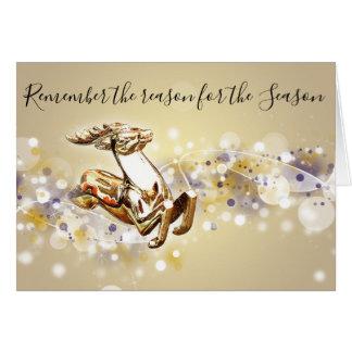 Razão para o cartão de Natal cristão da estação
