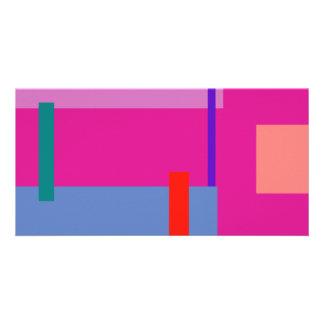 Razzle brilha cor-de-rosa cartão com foto