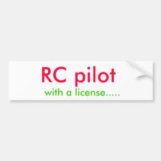 RC pilotam, com uma licença ..... Adesivo Para Carro