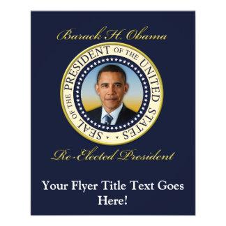 Re-Eleição comemorativa do presidente Barack Obama Flyer 11.43 X 14.22cm