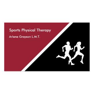 Reabilitação da fisioterapia dos esportes cartão de visita