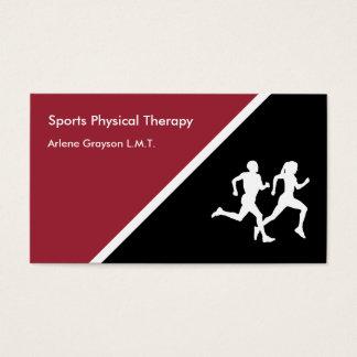 Reabilitação da fisioterapia dos esportes cartão de visitas