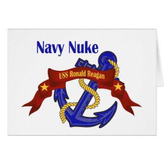 ~ Reagan das armas nucleares do marinho Cartão Comemorativo