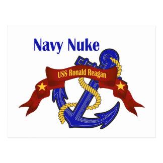 ~ Reagan das armas nucleares do marinho Cartão Postal