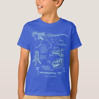 Real escuro da camisa de esqueleto do tiranossauro