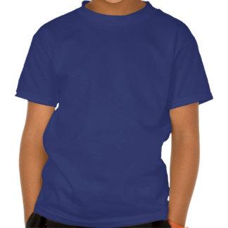 Real escuro da camisa de esqueleto do tiranossauro camiseta
