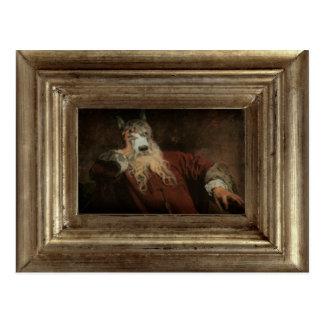 Real o senhor Cão Framed Retrato Cartão