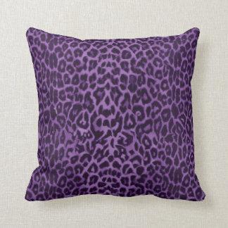 Real: Travesseiro decorativo roxo do leopardo Almofada