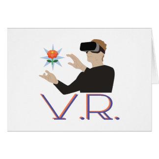 Realidade virtual V.R. Cartão