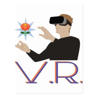 Realidade virtual V.R. Cartão Postal