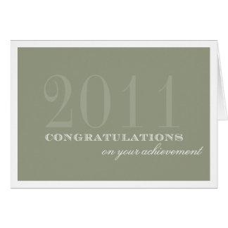 Realização elegante das felicitações do taupe da b cartão comemorativo