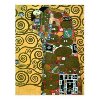 Realização (o abraço) por Gustavo Klimt Cartão Postal