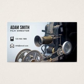 Realizador de cinema do profissional da câmera de cartão de visitas