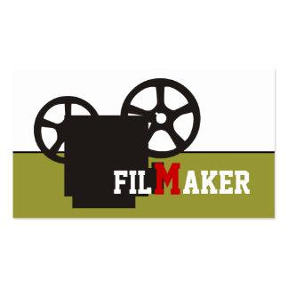 Realizador/diretor/cartões de visitas da cineasta cartão de visita