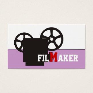Realizador/diretor/cartões de visitas da cineasta cartão de visitas