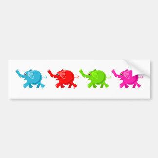 Rebanho dos elefantes adesivo
