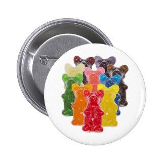 Rebanhos gomosos bonitos engraçados do urso bóton redondo 5.08cm