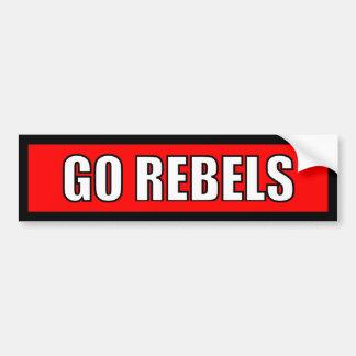 Rebeldes - etiqueta branca vermelha preta adesivo