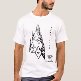 Rebelião dos peixes - t-shirt cómico camiseta