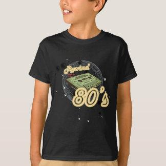 Rebobinação de volta ao anos 80 camiseta