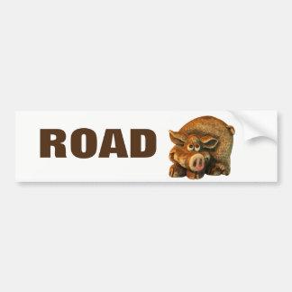Reboque do porco de estrada ou rv adesivo de para-choque