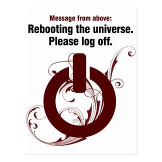 Recarregando o universo. Termine por favor Cartão Postal