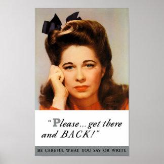 Receba de volta lá e - propaganda de WWII Poster