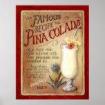 Receita do colada de Pina Posters