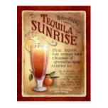 receita do nascer do sol do tequila cartão postal