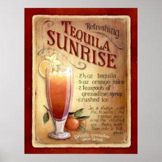 receita do nascer do sol do tequila pôster
