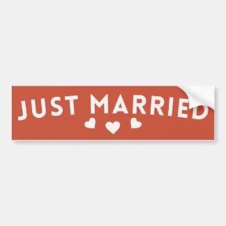Recem casados adesivo para carro