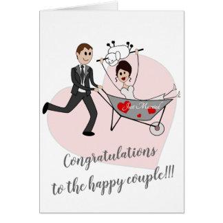 Recem casados - cartão do casamento de Balcãs
