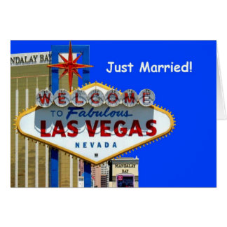 Recem casados de Las Vegas! Cartão do anúncio