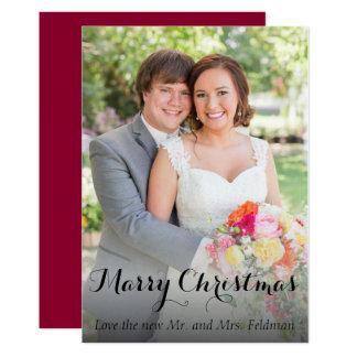 Recem casados do cartão da foto do Natal