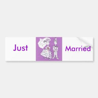Recem casados/noivos adesivo para carro
