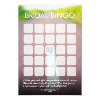 Recem casados nos cartões nupciais do Bingo da Convite 8.89 X 12.7cm