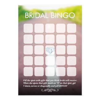 Recem casados nos cartões nupciais do Bingo da est Convite Personalizados